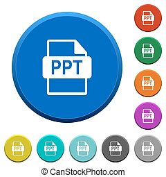 PPT file format beveled buttons - PPT file format round...