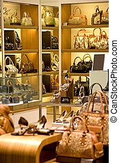 Handbag and Shoe Shop - Image of a shop selling handbags and...