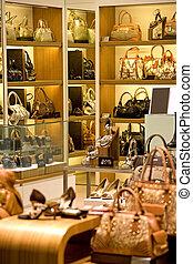 Handbag and Shoe Shop - Image of a shop selling handbags and...