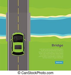 Bridge Conceptual Flat Vector Web Banner