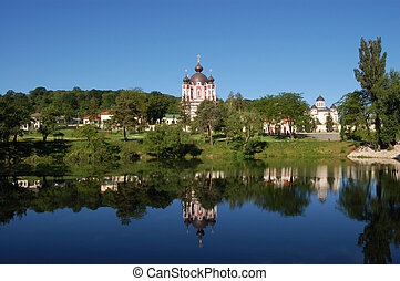 Monastery in Moldova - A monastery complex in the Republic...