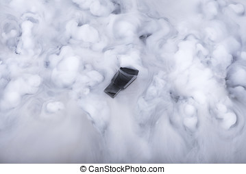 Memory stick in the clouds. Selective focus