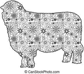 Zentangle sheep