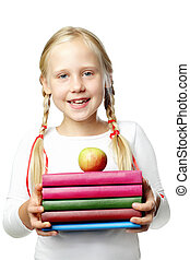 Back to School. Happy Pupil - smiling girl