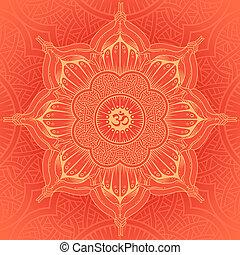 background round Yoga mandala. Design idea of the sacred...
