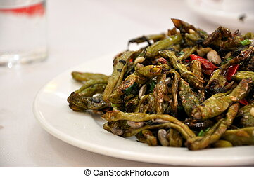 Stir Fried Green Beans with Garlic served at a restaurant in...