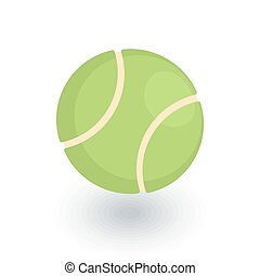 tennis ball isometric flat icon. 3d vector colorful...