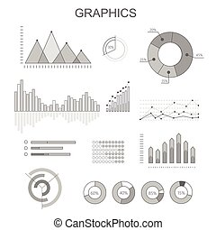 Black and White Graphics Poster with Diagrams - Black and...