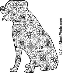 Zentangle dog