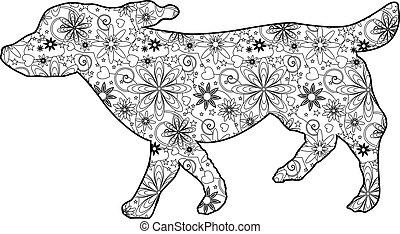 Zentangle dog