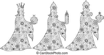 Zentangle 3 Kings