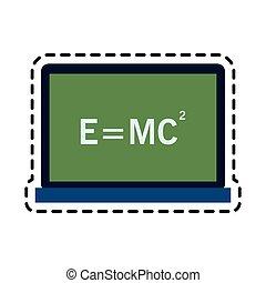 relativity theory equation math icon image