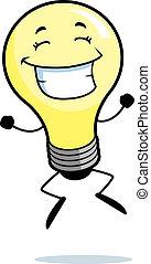 光, 燈泡, 跳躍