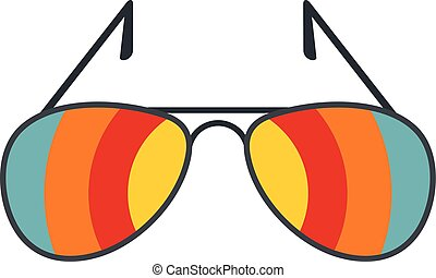 Sunglasses icon, flat style - Sunglasses icon isolated on...