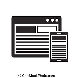 Responsive design icon - Responsive design in devices icon