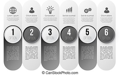 Infographics with steps or options - Infographics with 6...