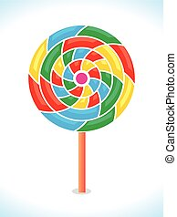 colorful vector lollipop or rainbow swirl.