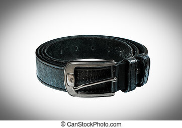 Close up leather belt