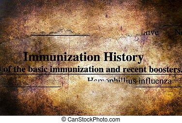 inmunización, historia