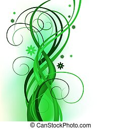 green curly design