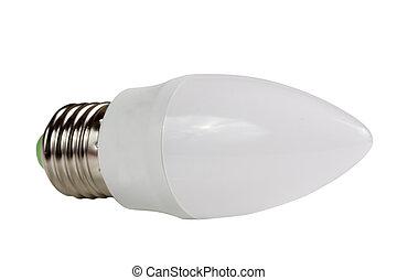 led lamp bulb isolated on white background.