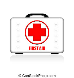 First Aid Hardwearing Case - First aid kit in white strong...