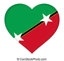 Flag of Saint Kitts and Nevis Heart