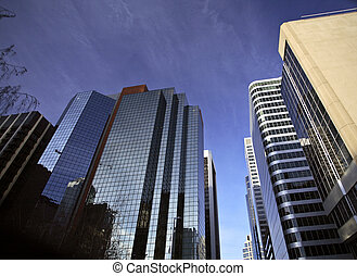 Downtown Calgary in Alberta Canada - buildings in downtown...