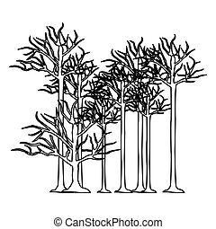 figure trees without leaves icon, vector illustraction...