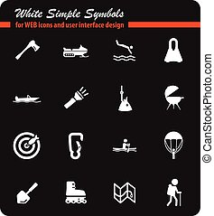 active recreation icon set - active recreation web icons for...