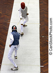 Men's Fencing - Men's fencing action at the Malaysia Games...