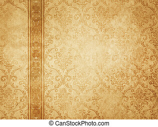 Old yellowed vintage paper texture or background.