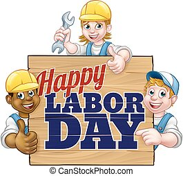 Happy Labor Day Workers Design