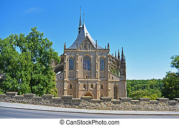 Church of Saint Barbara, Kutna Hora Czech Republic - Front...