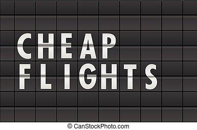 Flightboard Cheap Flights - detailed illustration of an...