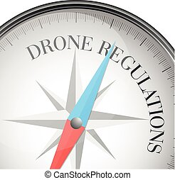compass Drone Regulations - detailed illustration of a...