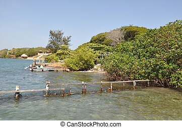 Island of Roatan in the Honduras
