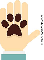 Donations for pets icon, flat style - Donations for pets...