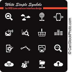 data analytic and social network icon set - data analytic...