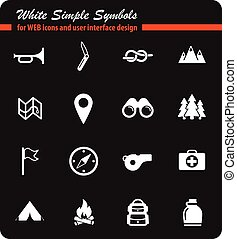 Boy scout simply icons - Boy scout simply symbols for web...