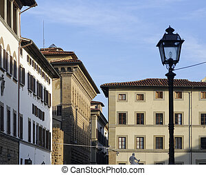 detail of old palace in florence