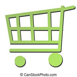 bonde,  shopping,  eco, carreta, verde, ou