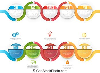Infographics with steps or options - Infographics with 5...