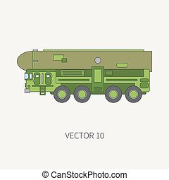 Line flat color vector icon armored reactive systems of...