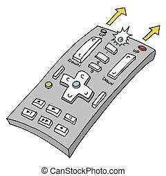 Retro Remote Control - An image of a retro remote control
