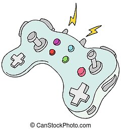 Modern Game Controller - An image of a modern game...