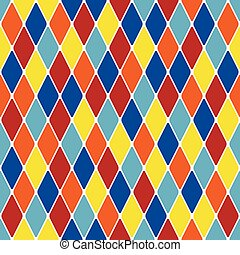 Harlequin parti-coloured seamless pattern 310 Color bright...