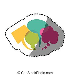 color types of chat bubbles icon
