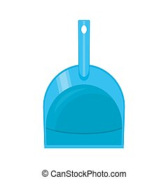 Plastic dustpan isolated on white. House cleaning equipment....