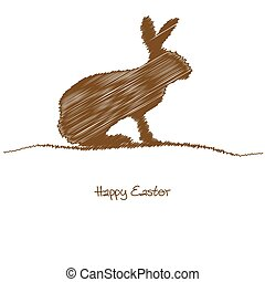 bunny silhouette for Easter time